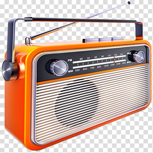 Orange and black radio, Internet radio FM broadcasting Music.