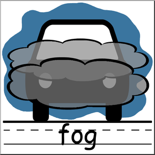 Clip Art: Weather Icons: Fog Color Labeled I abcteach.com.