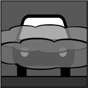 Clip Art: Weather Icons: Fog Grayscale Unlabeled I abcteach.com.