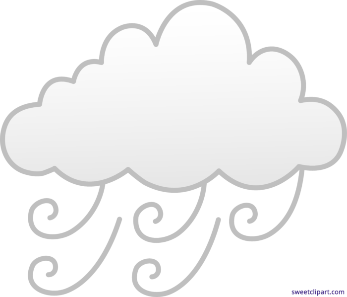 Windy Or Foggy Weather Clipart.