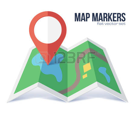 2,217 Folded Map Stock Vector Illustration And Royalty Free Folded.