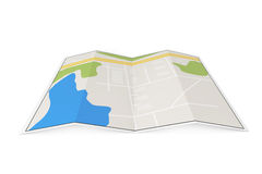 Folded Abstract City Map Stock Photos.