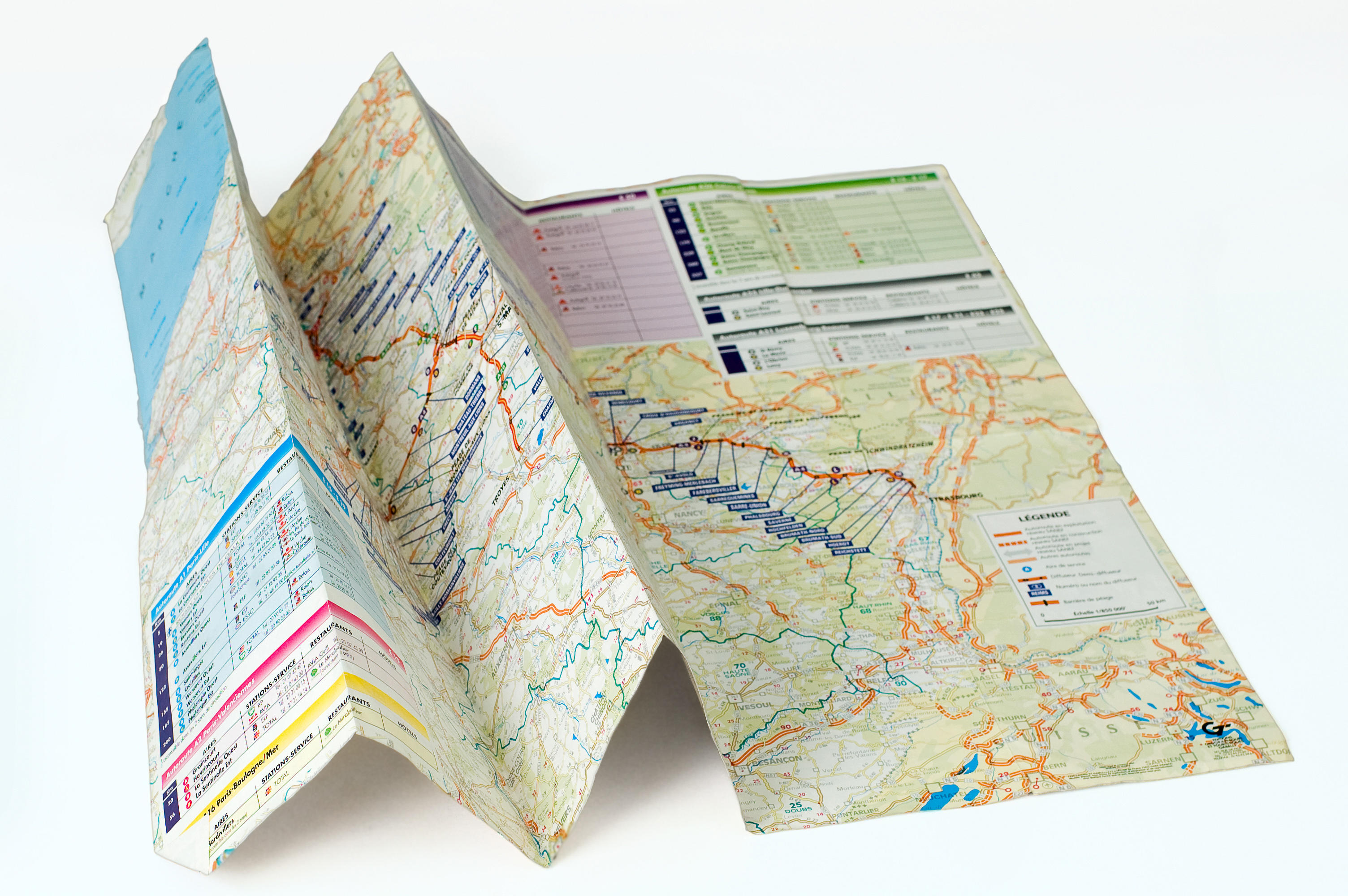 Folded Road Map Clipart.