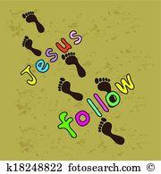 Follow jesus Clipart Royalty Free. 39 follow jesus clip art vector.