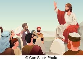 Clipart Vector of Follow Jesus.