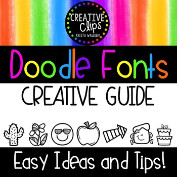 {FREE} How to Use Doodle Fonts Guide {Creative Clips Clipart}.