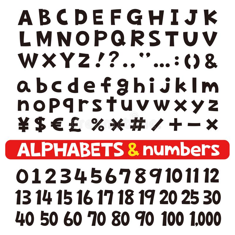 Fonts Stock Illustrations.