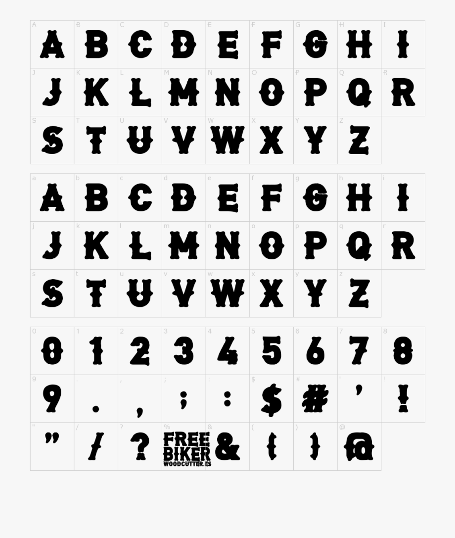 Font Characters.