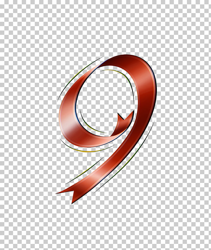 Numerical digit Ribbon Font, Photoshop PNG clipart.
