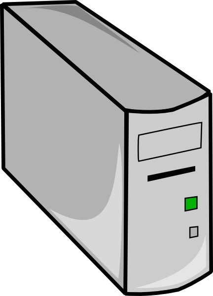 Tower Desktop Pc clip art Free vector in Open office drawing svg.