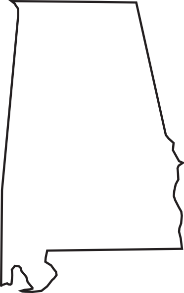Font Alabama A for silhouette.