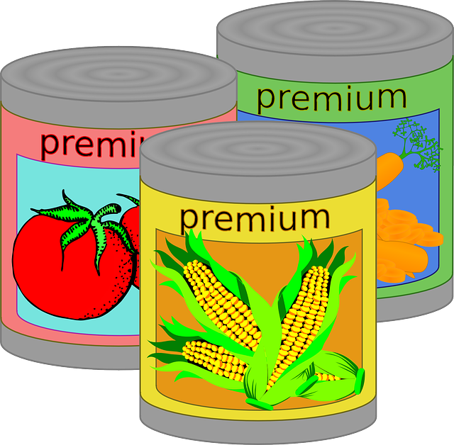 Free vector graphic: Canned Food, Tin, Can, Vegetables.