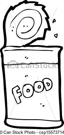 Vector Clip Art of cartoon food can csp15573714.
