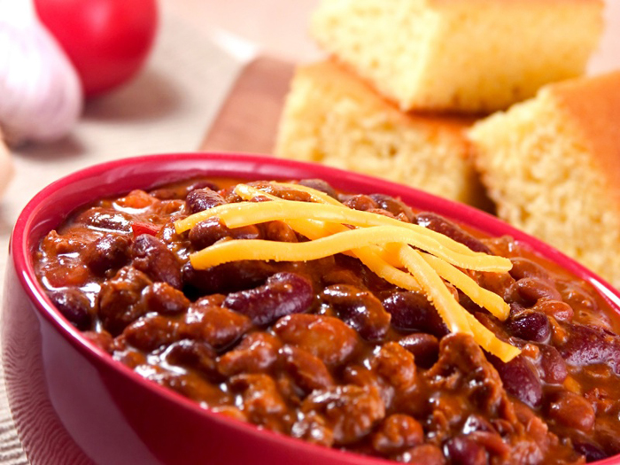 Chili And Cornbread Clipart.