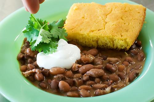 Beans and Cornbread.