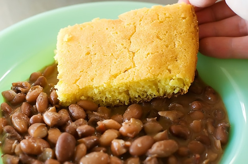 Cornbread And Beans Clipart#1888291.