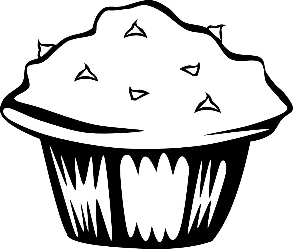 Clipart Black And White Cornbread Muffins.