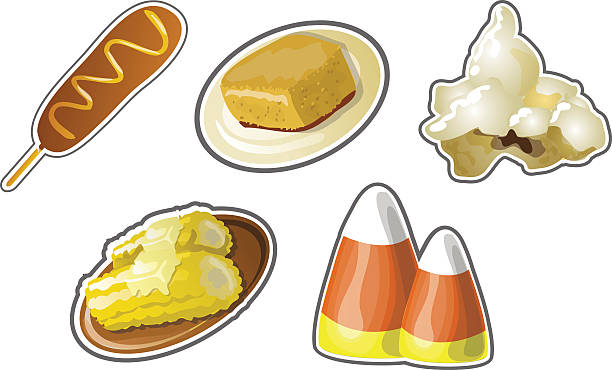 Cornbread Clip Art, Vector Images & Illustrations.