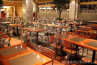 Food Court At Train Station Stock Photography.