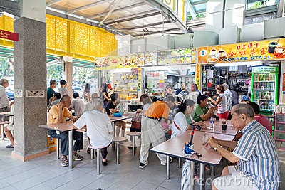 Singapore: Food Court Editorial Photography.
