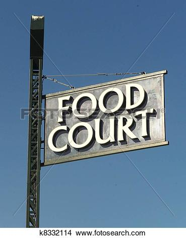 Stock Photography of Food court sign e00005001.