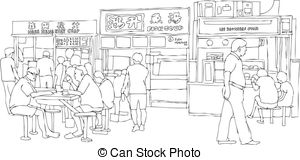 Food court Clipart and Stock Illustrations. 256 Food court vector.