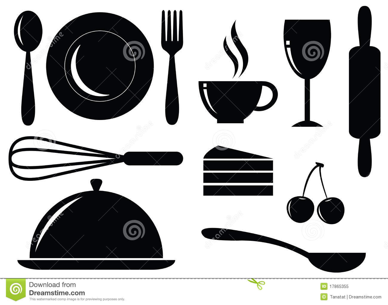 Food Silhouette Clipart.