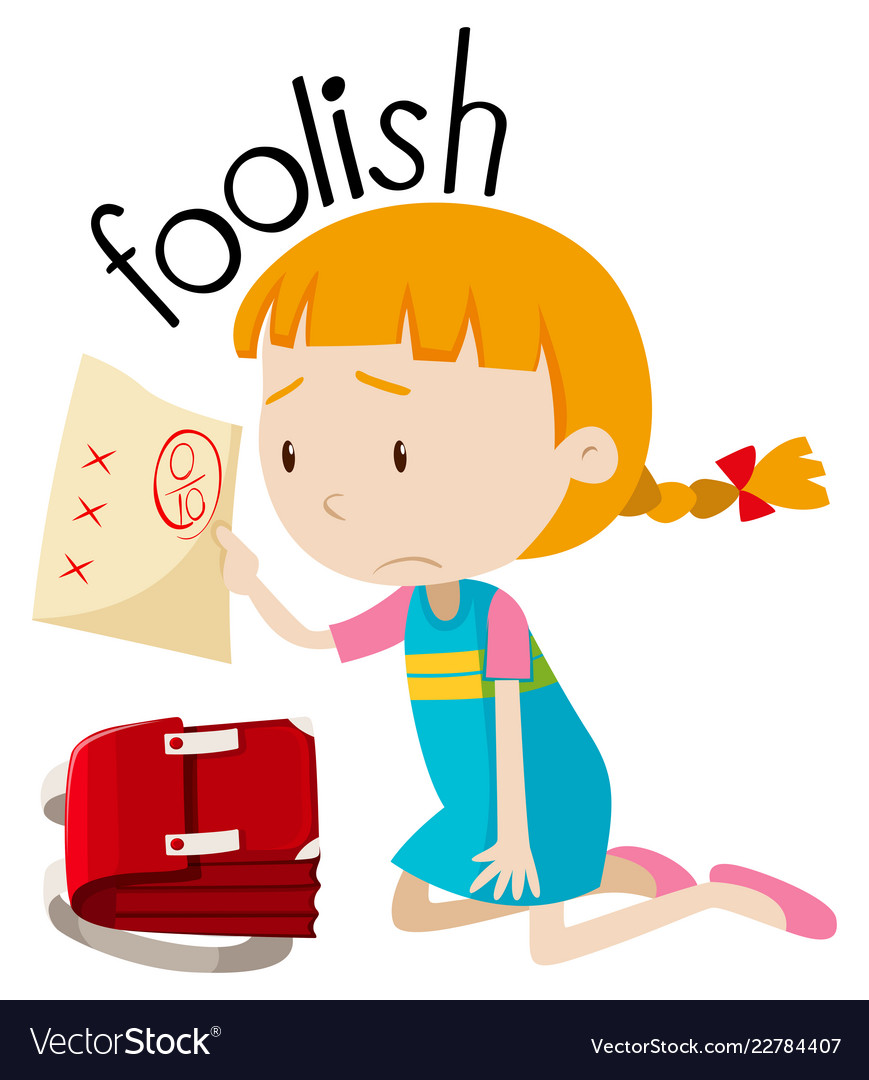 English vocabulary word foolish.