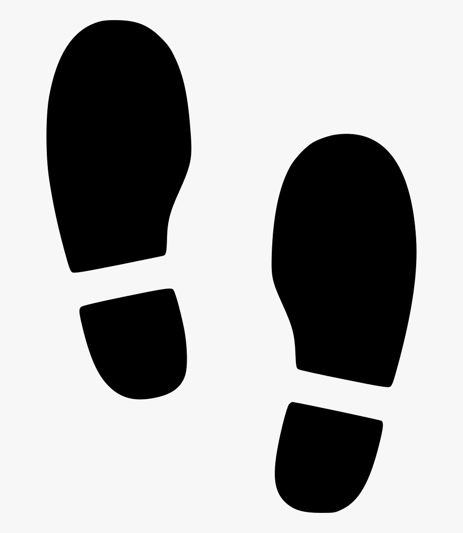 Shoes Foot Step Svg.