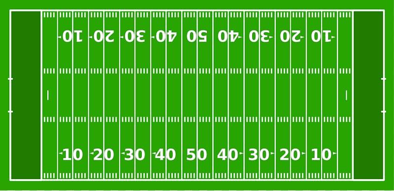 American football field End zone Gridiron football Hash.