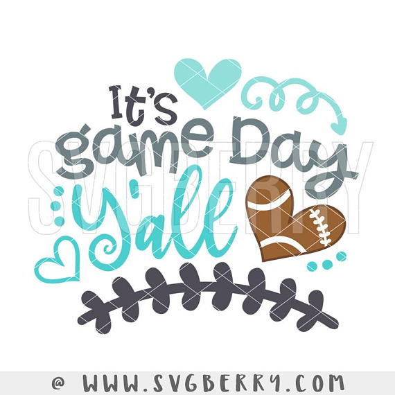 Its Game Day Y\'all SVG / Live Love Football SVG / Football.