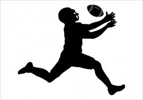 Footballer Silhouette PNG Transparent Clip Art Image.