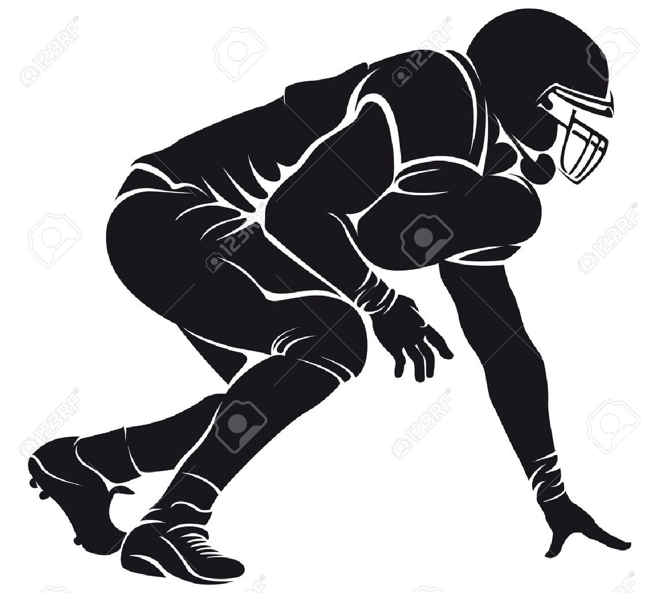 31,589 Football Player Silhouette Stock Illustrations, Cliparts.