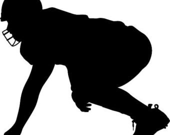 Football Player Silhouette.