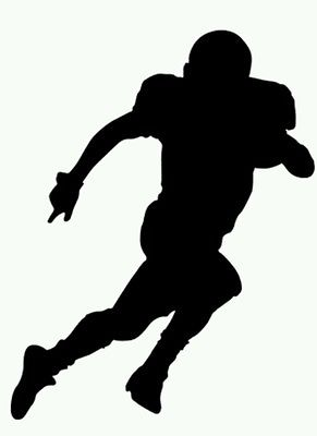 American Football Player Silhouette Black Vinyl Art Wall Decal.