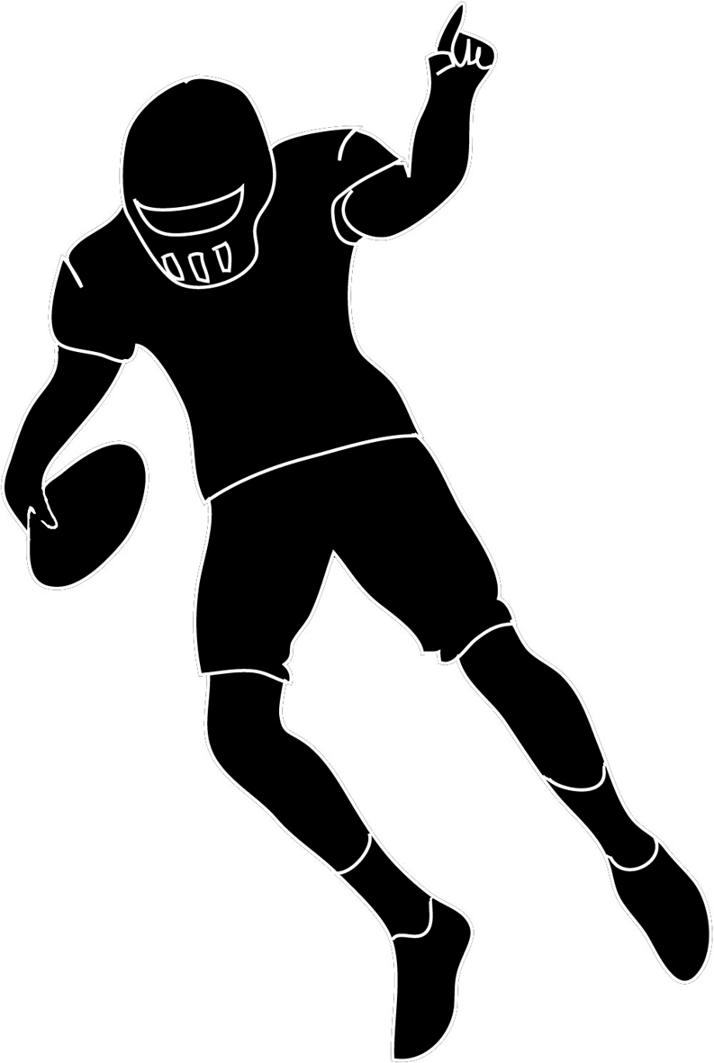 Football player silhouette clipart.