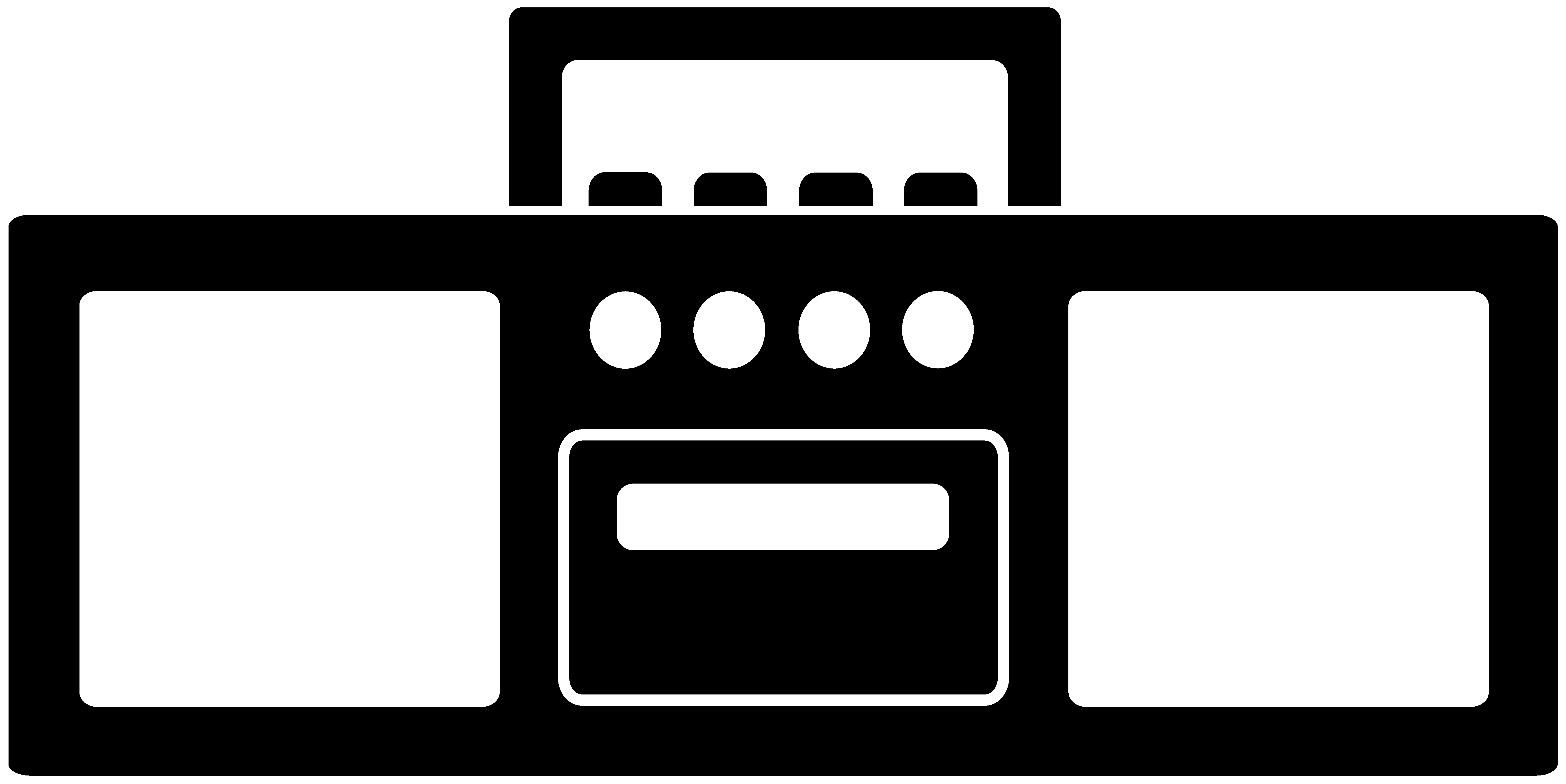 Antique radio Boombox Clip art.