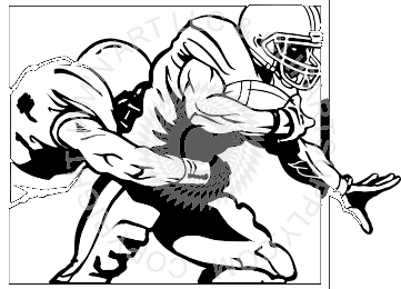 Football Player Clipart Tackle.