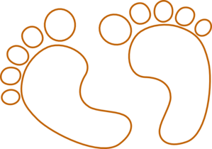 Baby Footprints Outline Clip Art at Clker.com.