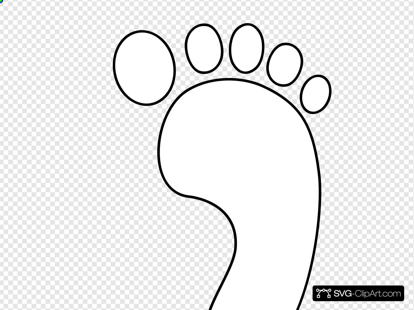 Right Footprint Bw Clip art, Icon and SVG.