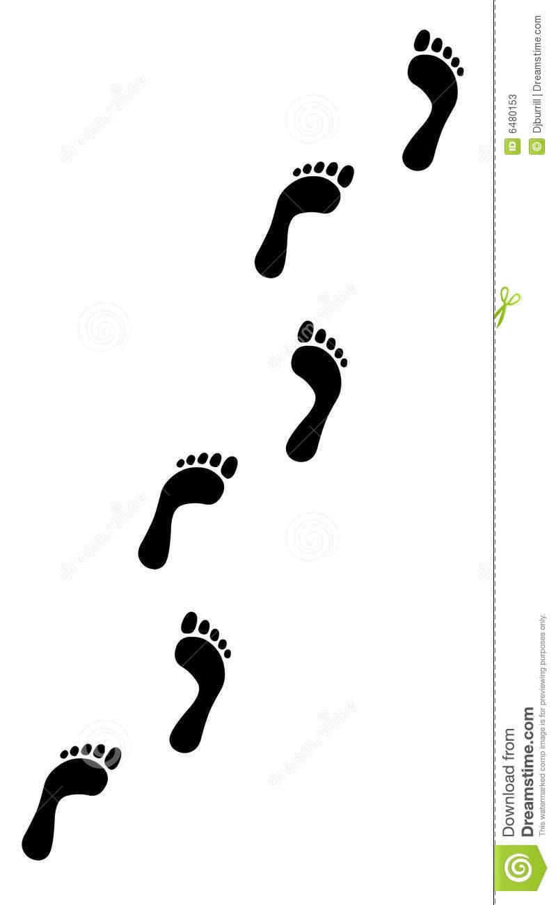 Walking Footprint Cliparts.