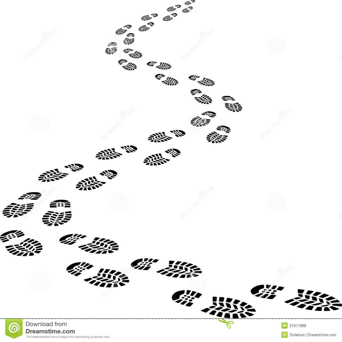Footprints (or ) are the impressions or images left behind by a.
