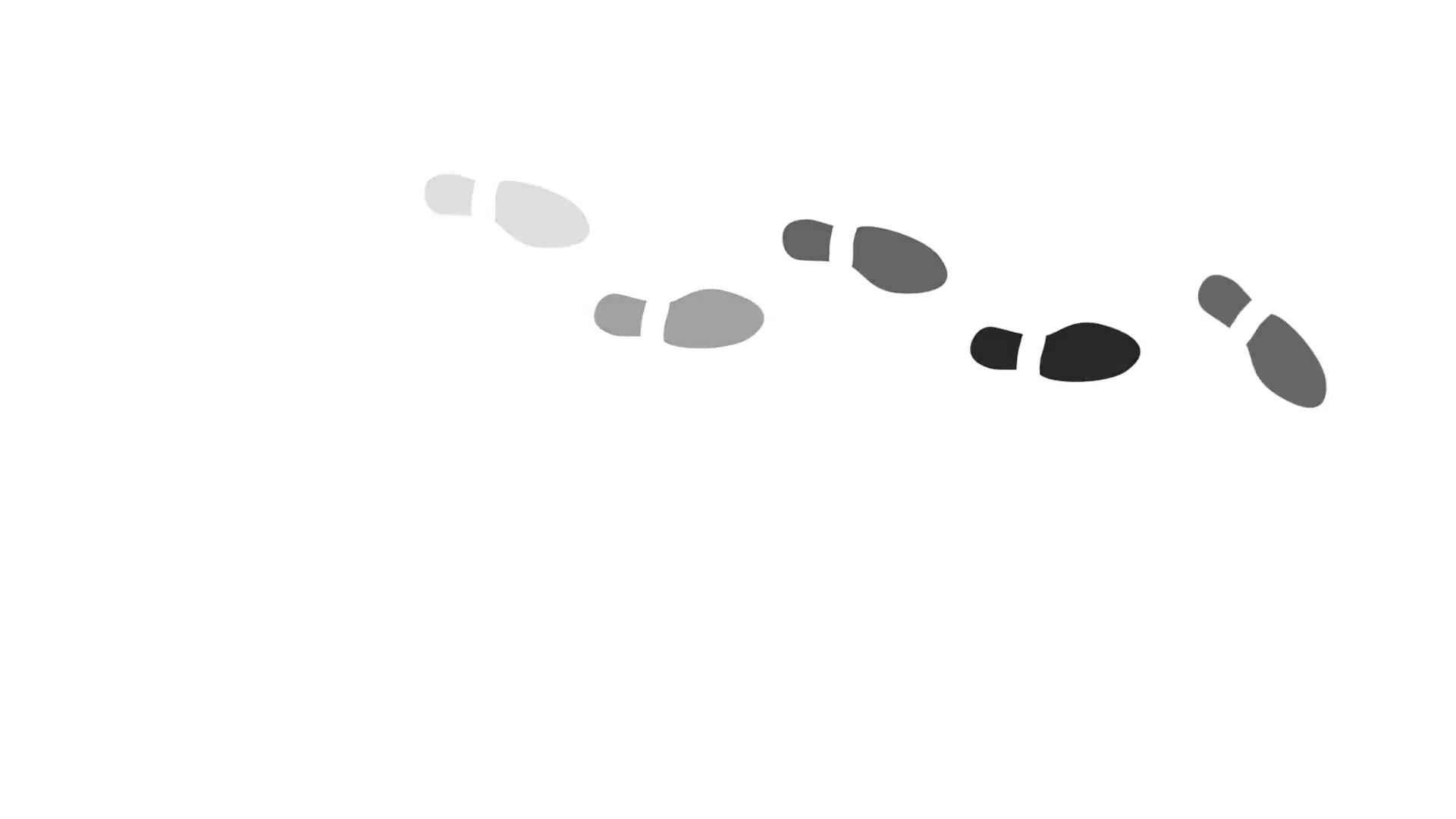 Footprints Walking Animation Motion Background.