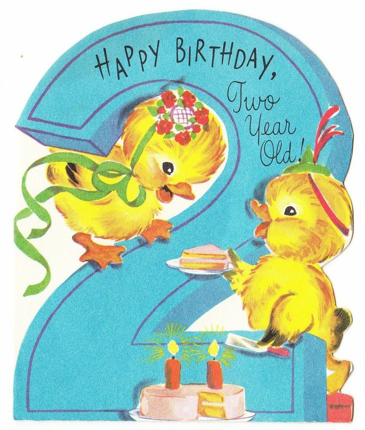 2 Year Old Birthday Card Clipart Kid