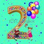 2 year old birthday card 2 year old birthday clipart clipart kid.
