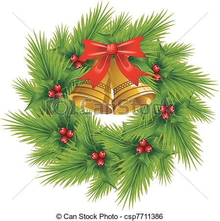 Christmas Wreath Images Free Clip Art.