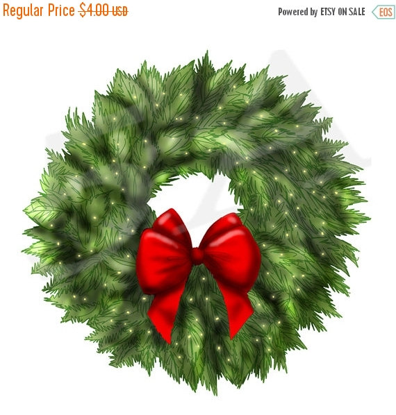 Christmas Wreath Pictures Clip Art.