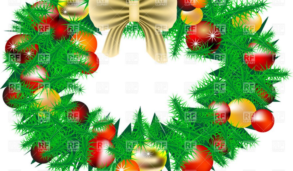 Royalty Free Clipart Christmas Wreath.