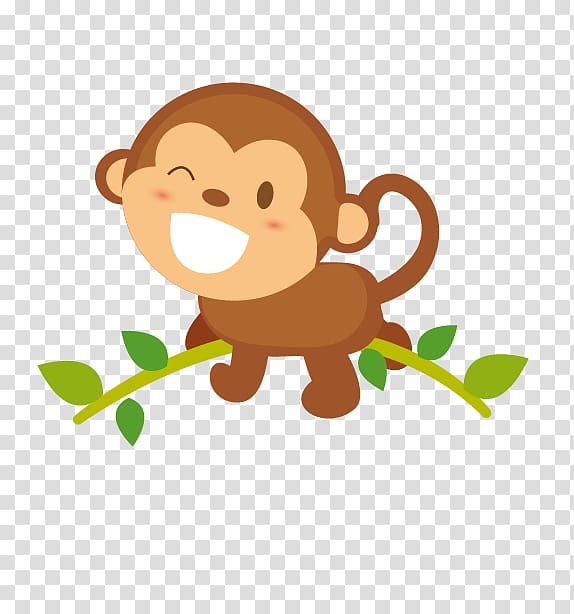 Adobe Illustrator Android , little monkey transparent.