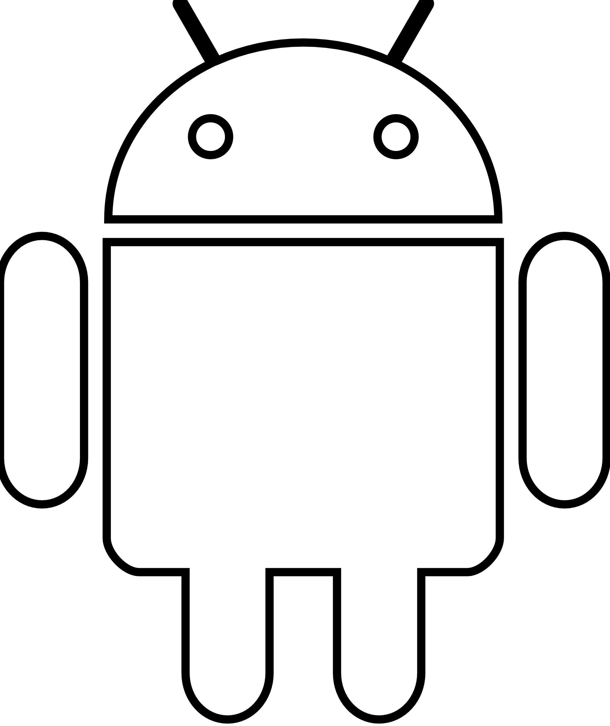 clipartist.net » Clip Art » Android Robot Black White Art.